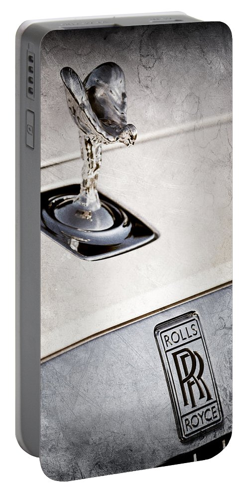 Rolls-royce Hood Ornament Portable Battery Charger featuring the photograph Rolls-royce Hood Ornament by Jill Reger
