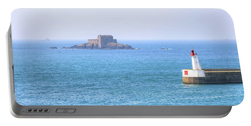 Port Entrance Portable Battery Charger featuring the photograph Saint-malo - Brittany by Joana Kruse
