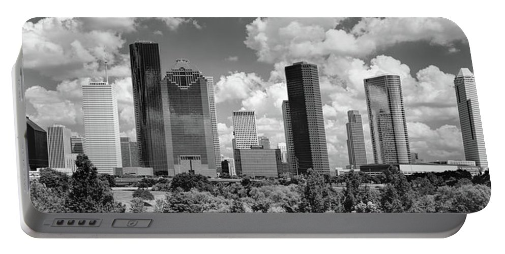 Photography Portable Battery Charger featuring the photograph Skyscrapers In A City, Houston, Texas by Panoramic Images