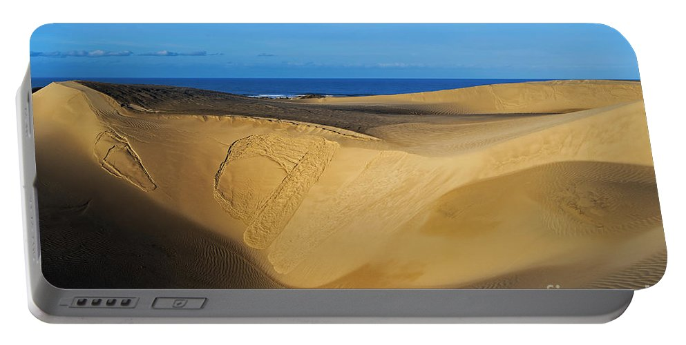 Sunrise At Oceano Sand Dunes Portable Battery Charger featuring the photograph Sunrise At Oceano Sand Dunes by Yefim Bam