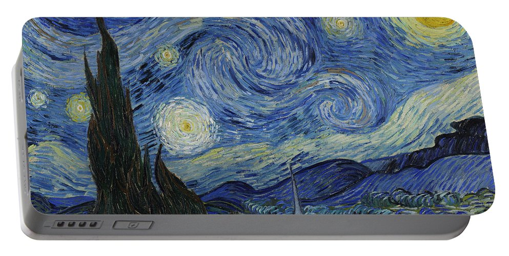 1889 Portable Battery Charger featuring the painting The Starry Night by Vincent van Gogh