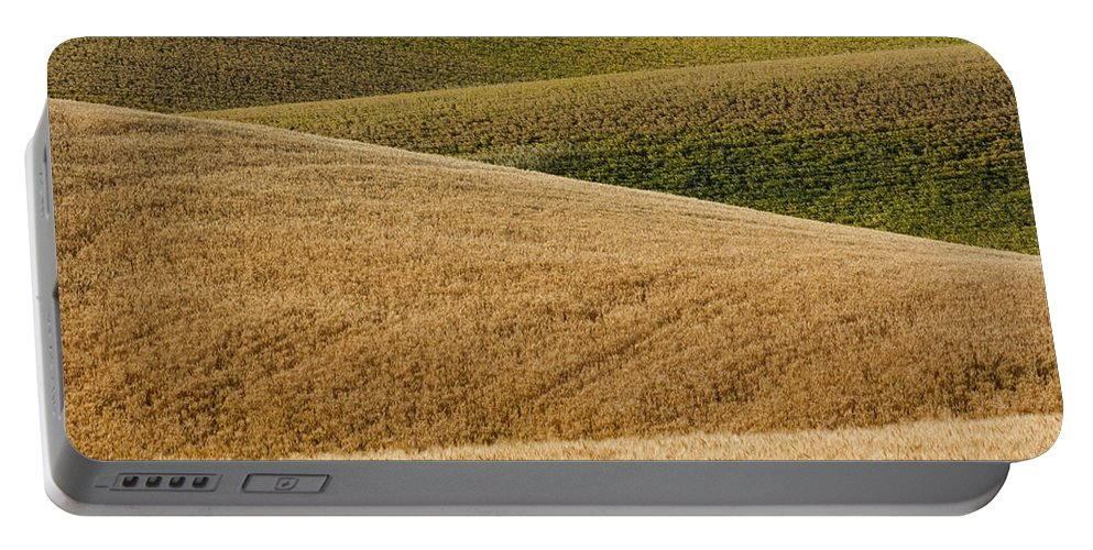 Farm Portable Battery Charger featuring the photograph Wheat Field by John Shaw