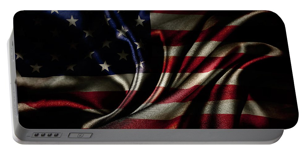 American Flag Portable Battery Charger featuring the photograph American Flag by Les Cunliffe