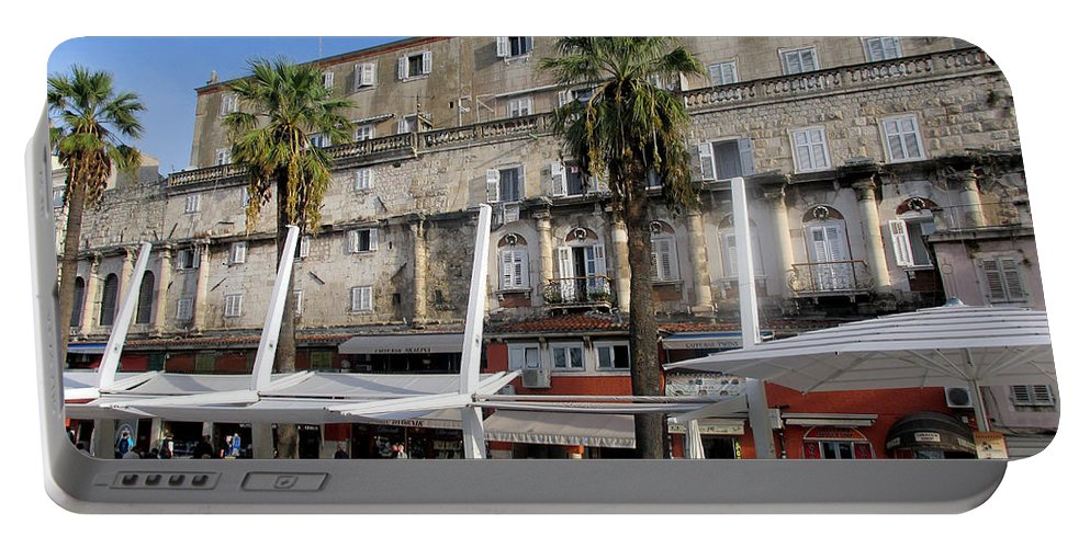 Split Croatia Portable Battery Charger featuring the photograph Views Of Split Croatia by Richard Rosenshein