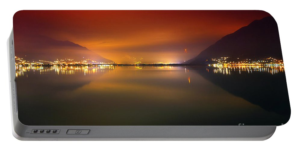 Lake Portable Battery Charger featuring the photograph Alpine Lake At Night by Mats Silvan