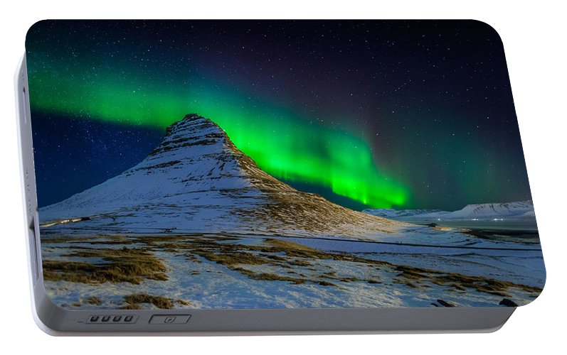Photography Portable Battery Charger featuring the photograph Aurora Borealis Or Northern Lights by Panoramic Images