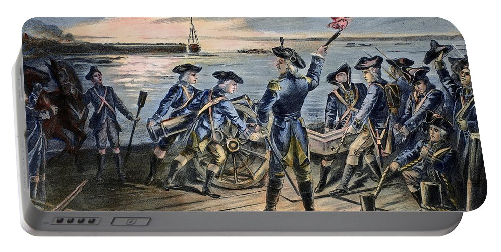 1776 Portable Battery Charger featuring the photograph Battle Of Long Island, 1776 by Granger