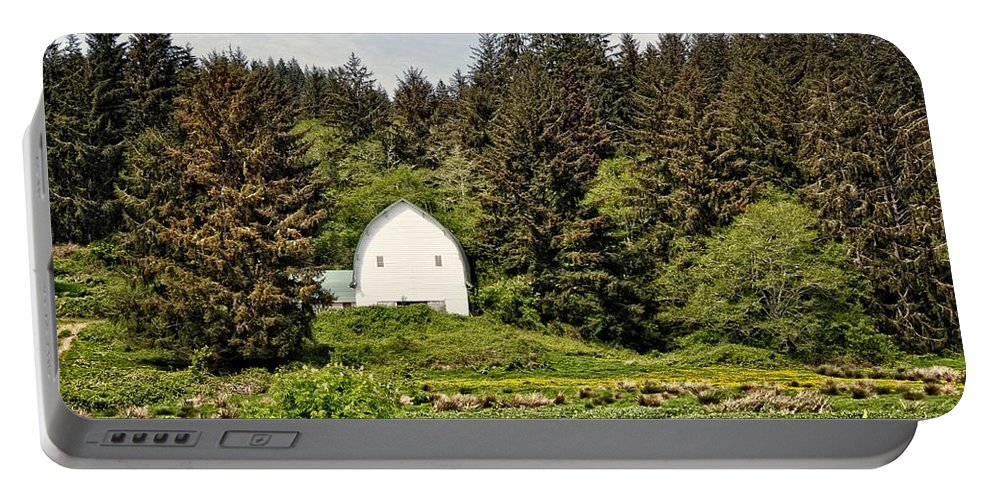Barn Portable Battery Charger featuring the photograph Hood River by Image Takers Photography LLC