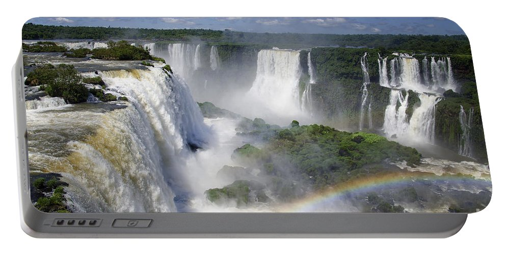 Iguazu Falls Portable Battery Charger featuring the photograph Iquazu Falls - South America by Jon Berghoff