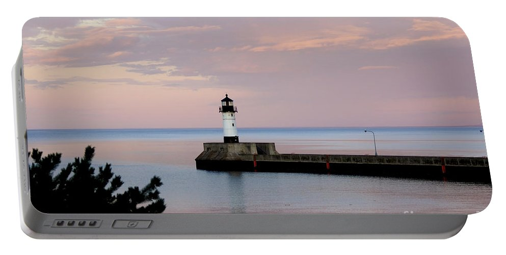 Lighthouse Portable Battery Charger featuring the photograph Lighthouse by Lori Tordsen