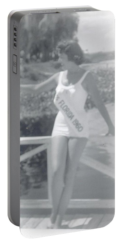 Kathy Magda Portable Battery Charger featuring the photograph Miss Florida 1960 by Robert Floyd