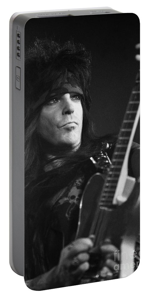 Guitarist Portable Battery Charger featuring the photograph Motley Crue by Concert Photos