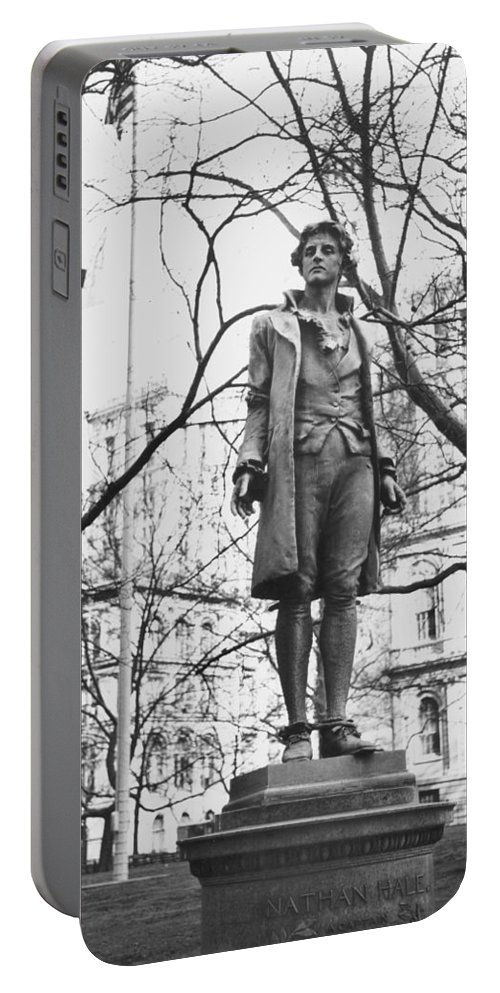 18th Century Portable Battery Charger featuring the photograph Nathan Hale (1755-1776) by Granger
