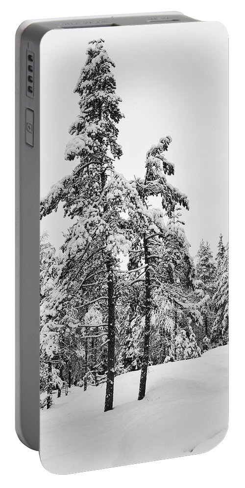 Finland Portable Battery Charger featuring the photograph Pine Forest Winter by Jouko Lehto