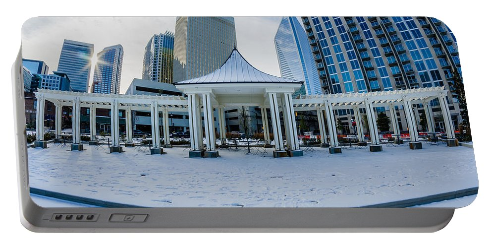 Rare Portable Battery Charger featuring the photograph Rare Winter Scenery Around Charlotte North Carolina by Alex Grichenko