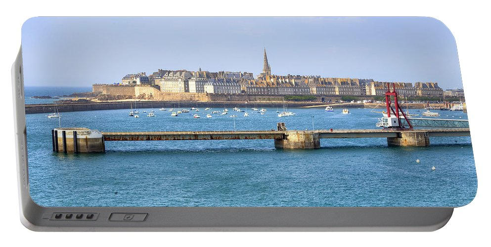 City Portable Battery Charger featuring the photograph Saint-malo - Brittany by Joana Kruse