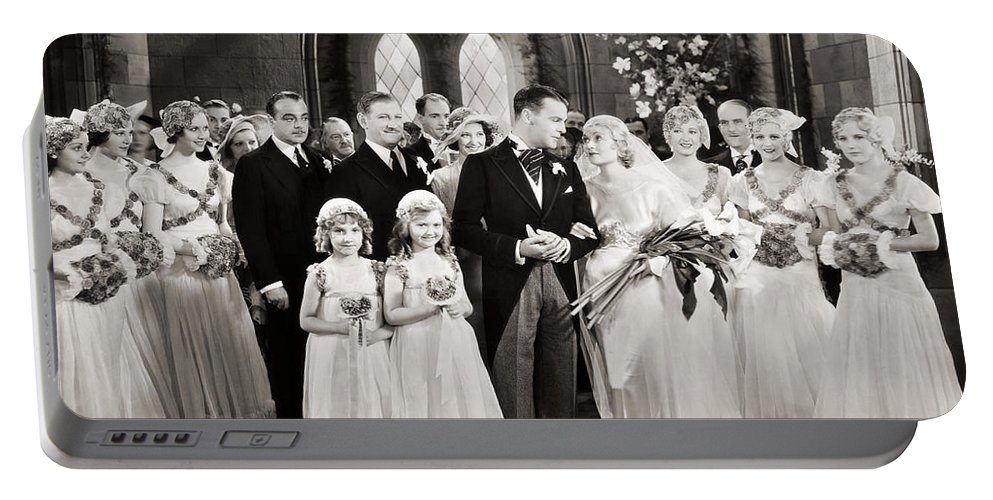 1920s Portable Battery Charger featuring the photograph Silent Film Still: Wedding by Granger