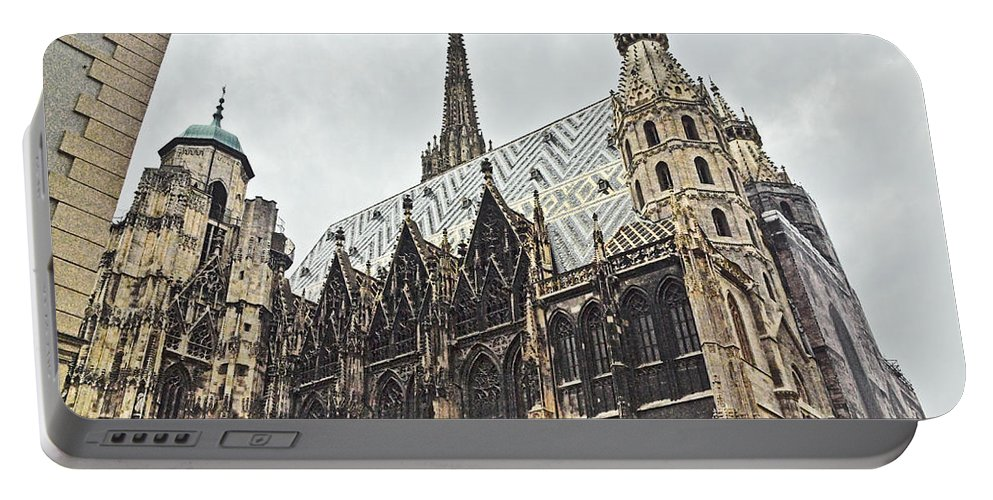 Stephansdom Portable Battery Charger featuring the photograph Vienna Austria by Howard Stapleton
