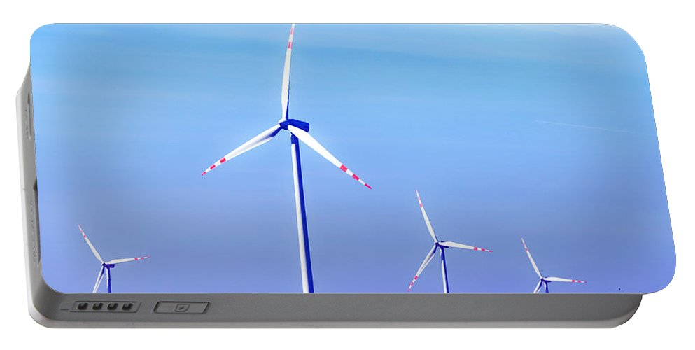 Landscape Portable Battery Charger featuring the photograph Wind Turbines by Michal Bednarek