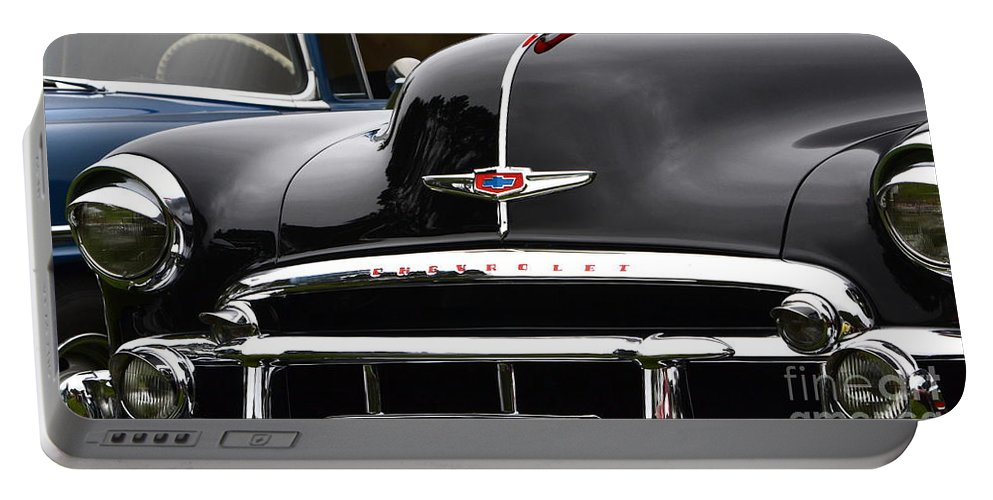 Black Portable Battery Charger featuring the photograph Classic Chevy by Dean Ferreira