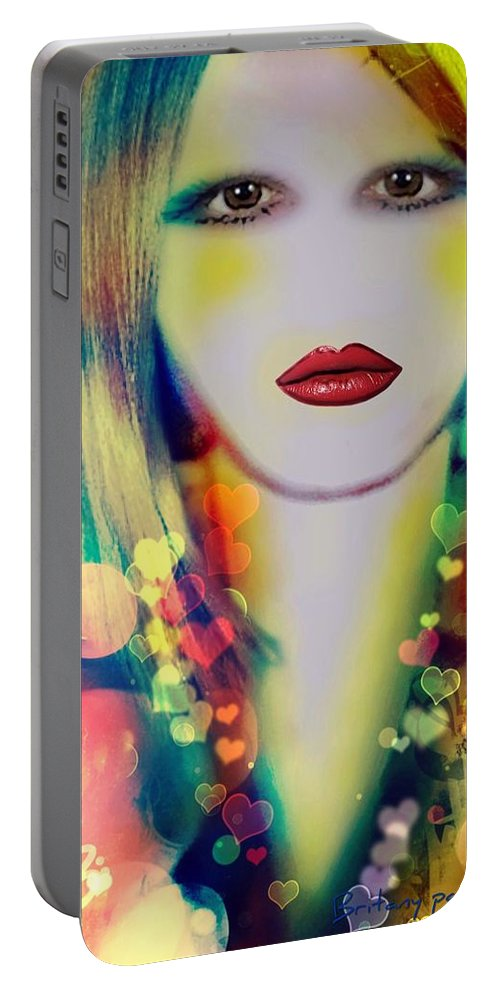 Britany Portable Battery Charger featuring the painting Britany by Pikotine Art