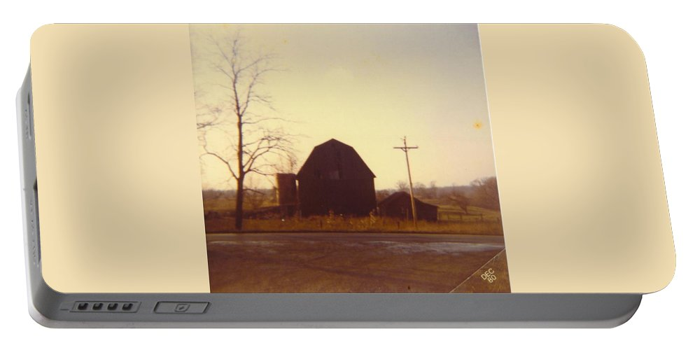 Michigan Barn And Out Building Portable Battery Charger featuring the photograph Barn by Robert Floyd