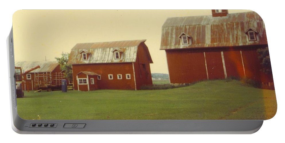 Michigan Barns Portable Battery Charger featuring the photograph Barns by Robert Floyd