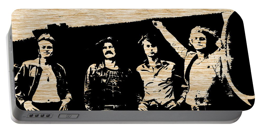 Jimmy Page Digital Art Mixed Media Portable Battery Charger featuring the mixed media Led Zeppelin by Marvin Blaine