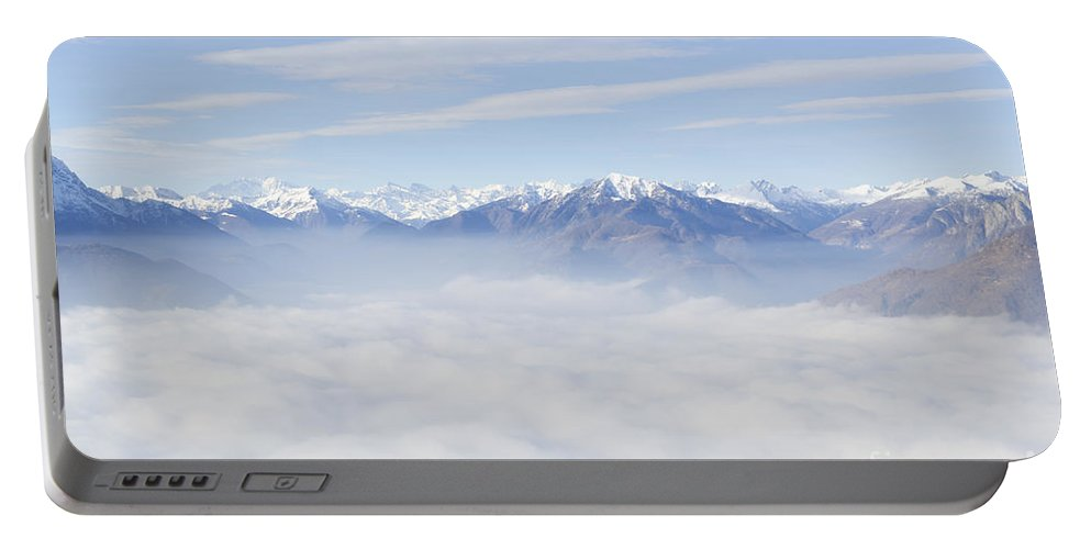 Mountains Portable Battery Charger featuring the photograph Sea Of Fog by Mats Silvan