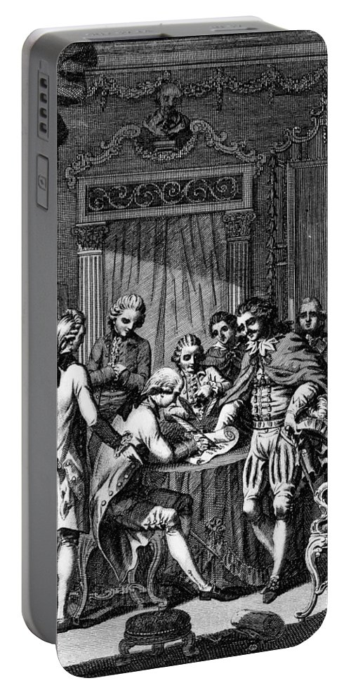 1783 Portable Battery Charger featuring the photograph Treaty Of Paris, 1783 by Granger