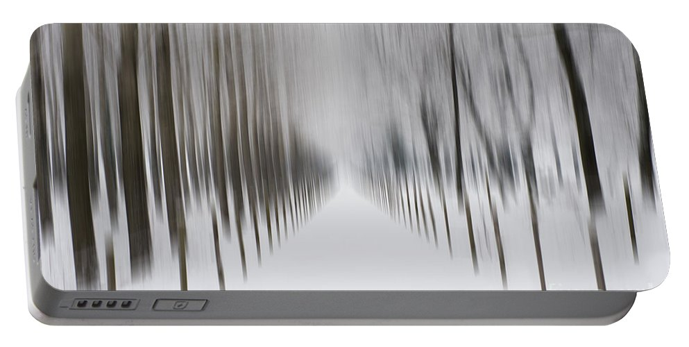 Winter Portable Battery Charger featuring the photograph Winter Road by Mats Silvan