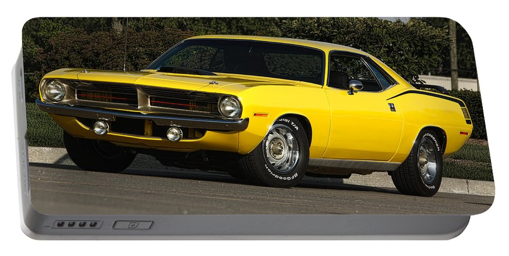1970 Portable Battery Charger featuring the photograph '70 Hemi 'cuda by Gordon Dean II