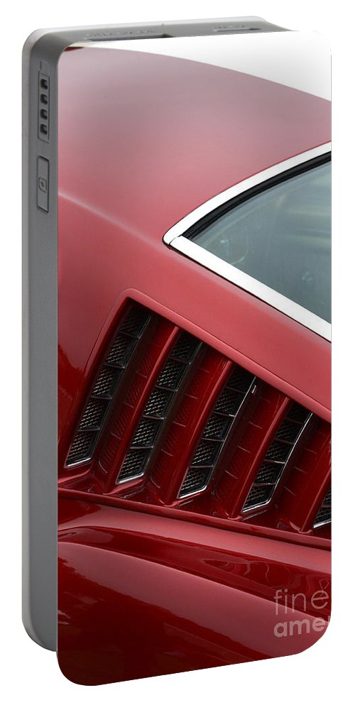 Ford Portable Battery Charger featuring the photograph Mustang Fastback Detail by Dean Ferreira