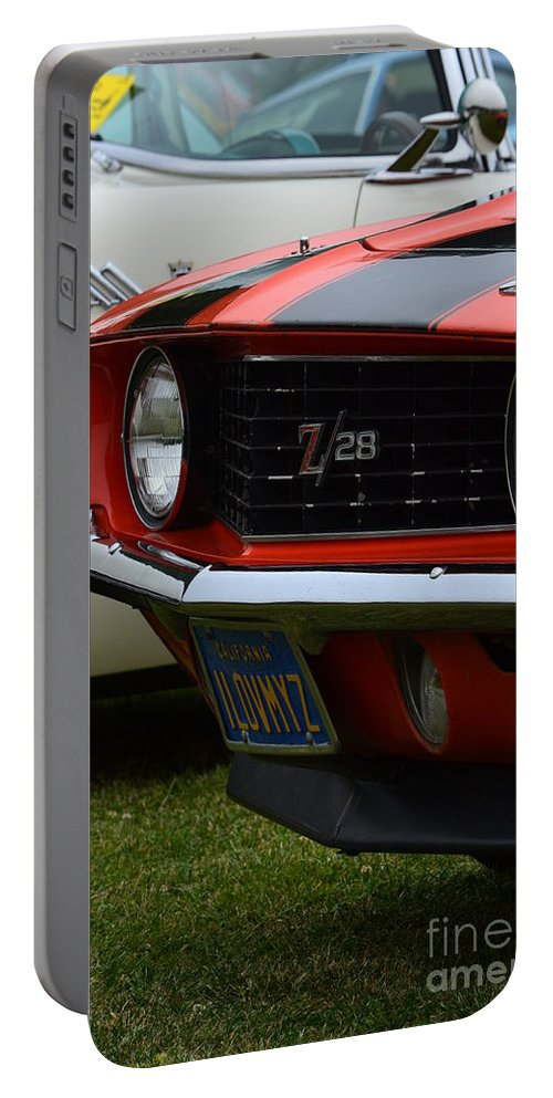 Z-28 Portable Battery Charger featuring the photograph 60's Camaro by Dean Ferreira