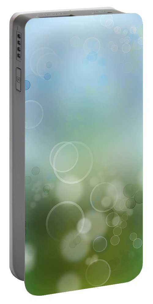 Abstract Portable Battery Charger featuring the photograph Abstract Background by Les Cunliffe
