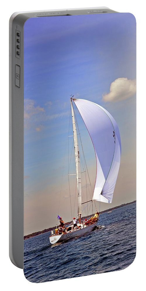 Bayview Yacht Club Portable Battery Charger featuring the photograph Fast Tago by Randy J Heath