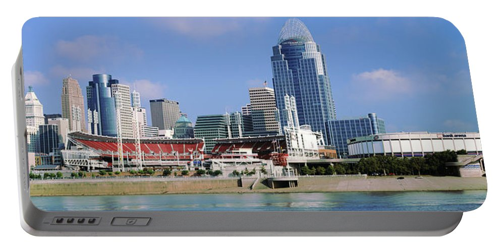 Photography Portable Battery Charger featuring the photograph Skyscrapers In A City, Cincinnati by Panoramic Images
