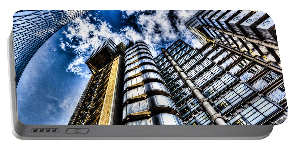 Lloyds Of London Portable Battery Charger featuring the photograph Willis Group And Lloyd's Of London by David Pyatt