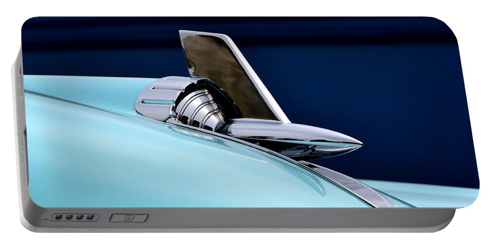 57 Portable Battery Charger featuring the photograph 57 Chevy Detail by Dean Ferreira