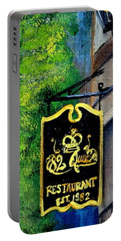 Charleston Portable Battery Charger featuring the painting 82 Queen by Ashley Galloway