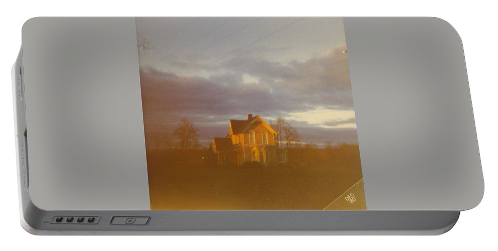 Michigan Farm House With Fall Skies Overhead. Portable Battery Charger featuring the photograph Skyscape by Robert Floyd