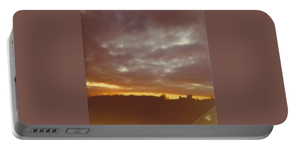 Michigan Fall Skies Portable Battery Charger featuring the photograph Skyscape by Robert Floyd