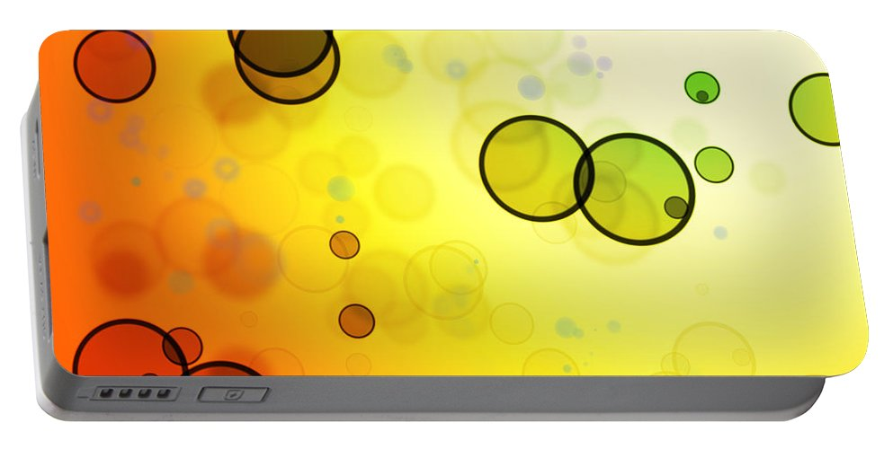 Color Portable Battery Charger featuring the photograph Abstract Background by Les Cunliffe