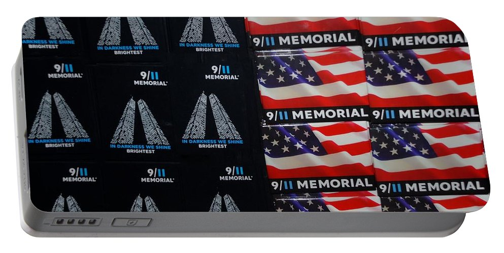 Wtc Portable Battery Charger featuring the photograph 9/11 Memorial For Sale by Rob Hans