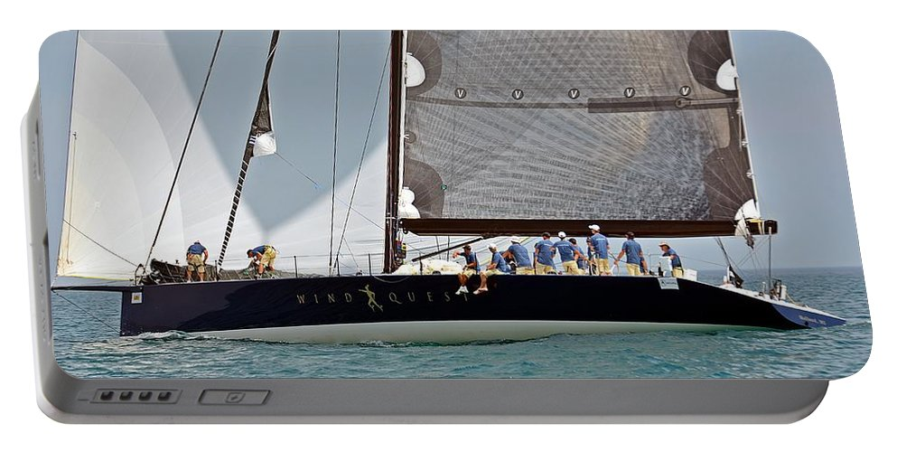 1st To Mackinac Island Portable Battery Charger featuring the photograph Windquest by Randy J Heath