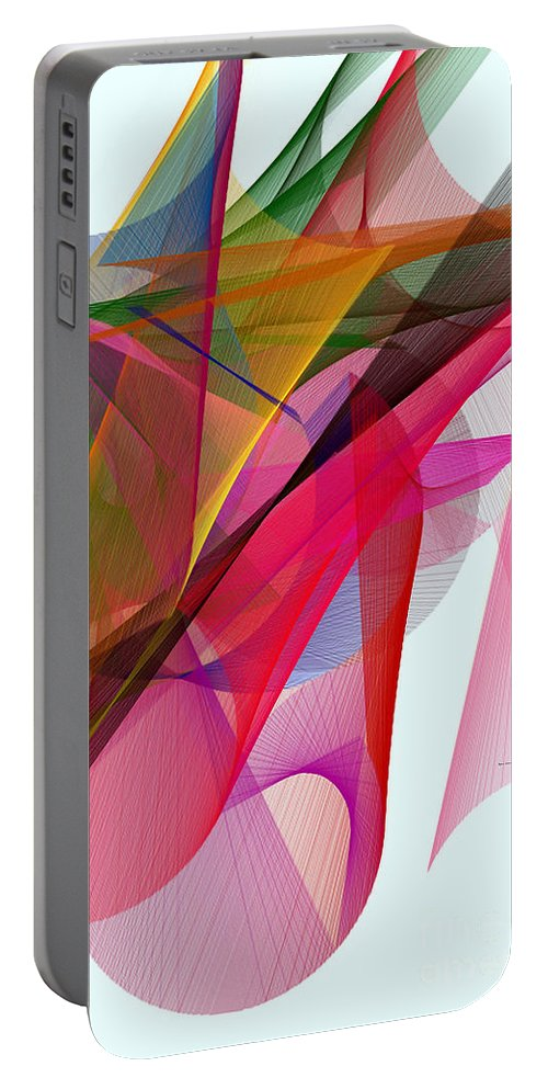 Abstract Art Portable Battery Charger featuring the digital art Color Symphony by Rafael Salazar