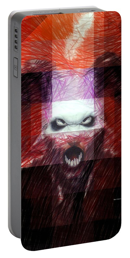 Halloween Portable Battery Charger featuring the digital art Halloween Mask by Rafael Salazar