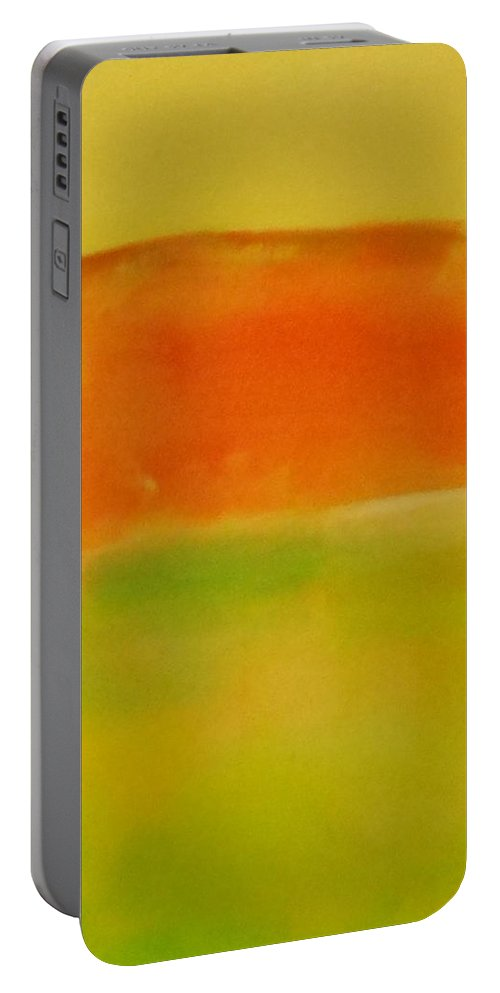Abstract Portable Battery Charger featuring the painting Landscape by Lord Frederick Lyle Morris - Disabled Veteran