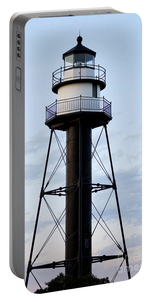 Lighthouses Portable Battery Charger featuring the photograph Lighthouse by Lori Tordsen