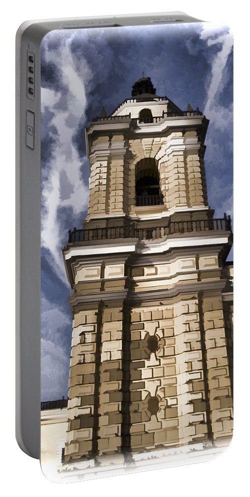 Lima Peru Portable Battery Charger featuring the photograph The Monastery Of San Francisco - Lima Peru by Jon Berghoff